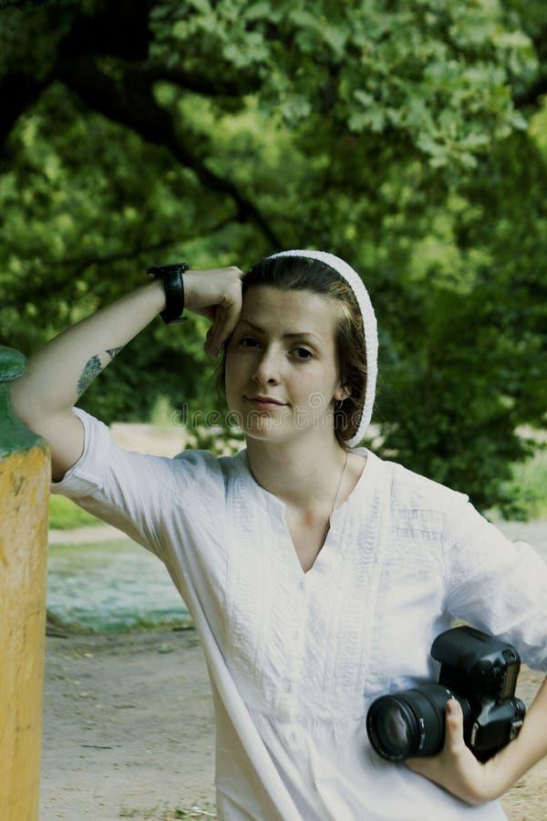 Retrato de una mujer joven fotografía de archivo