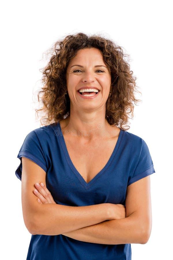 Retrato de una mujer madura feliz foto de archivo libre de regalías