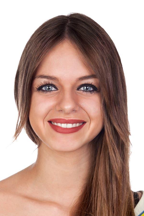 Retrato de una mujer ocasional joven atractiva imagen de archivo libre de regalías