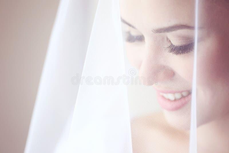 Retrato de una novia delicada imagenes de archivo