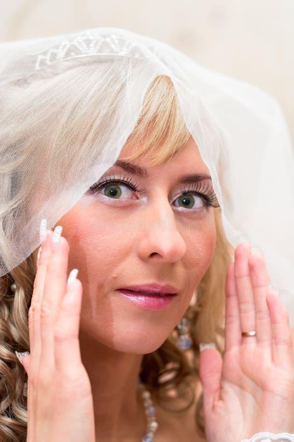 Retrato de una novia hermosa joven imagen de archivo libre de regalías