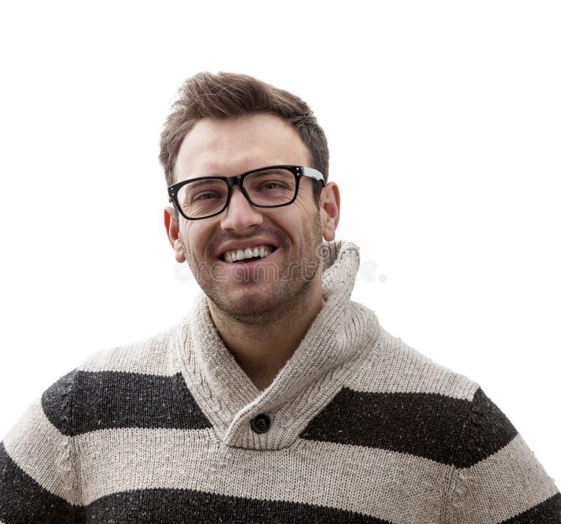 Retrato de una sonrisa del hombre joven imágenes de archivo libres de regalías