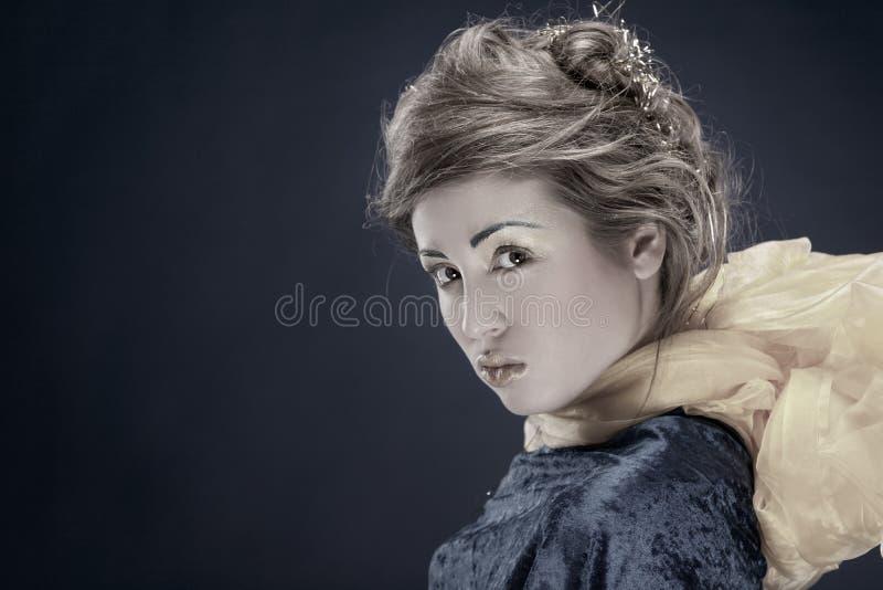 Retrato de Vinage de la mujer hermosa imagen de archivo libre de regalías