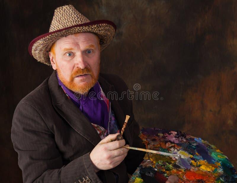 Retrato de Vincent van Gogh da dedicação imagens de stock royalty free
