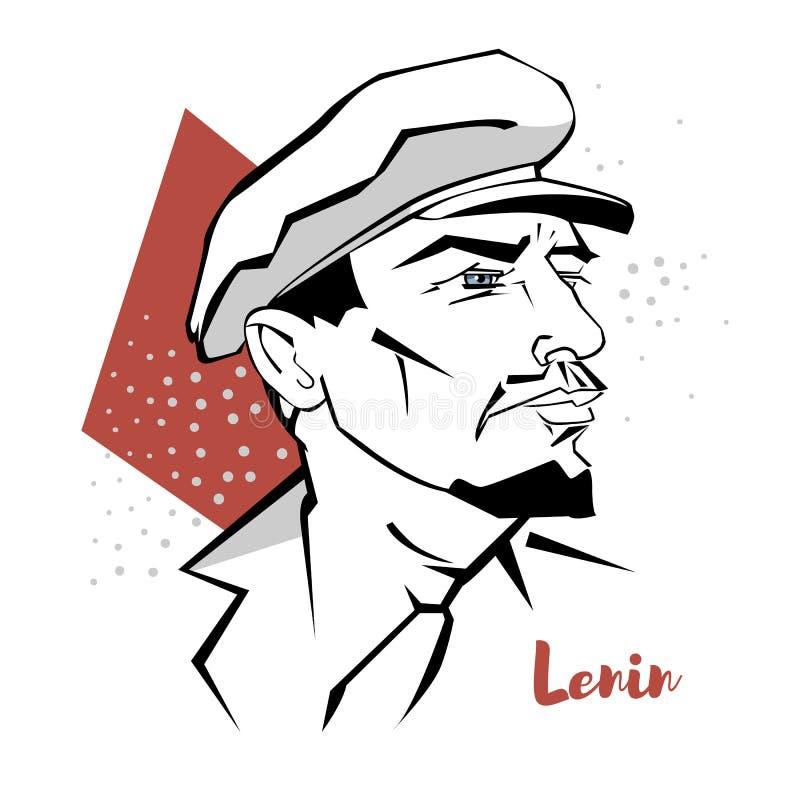 Retrato de Vladimir Lenin ilustración del vector