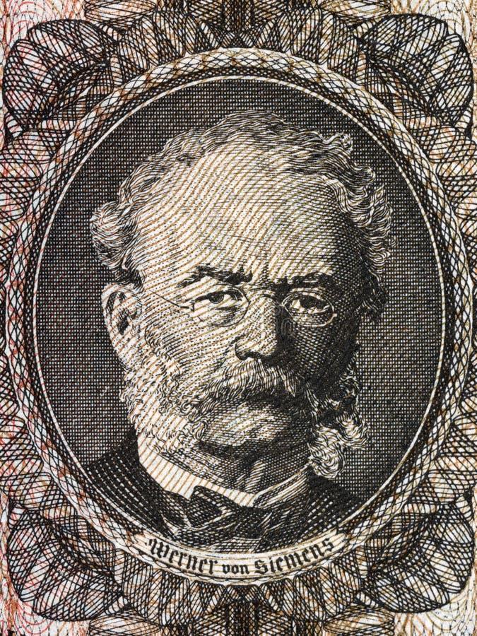 Retrato de Werner von Siemens fotografia de stock royalty free