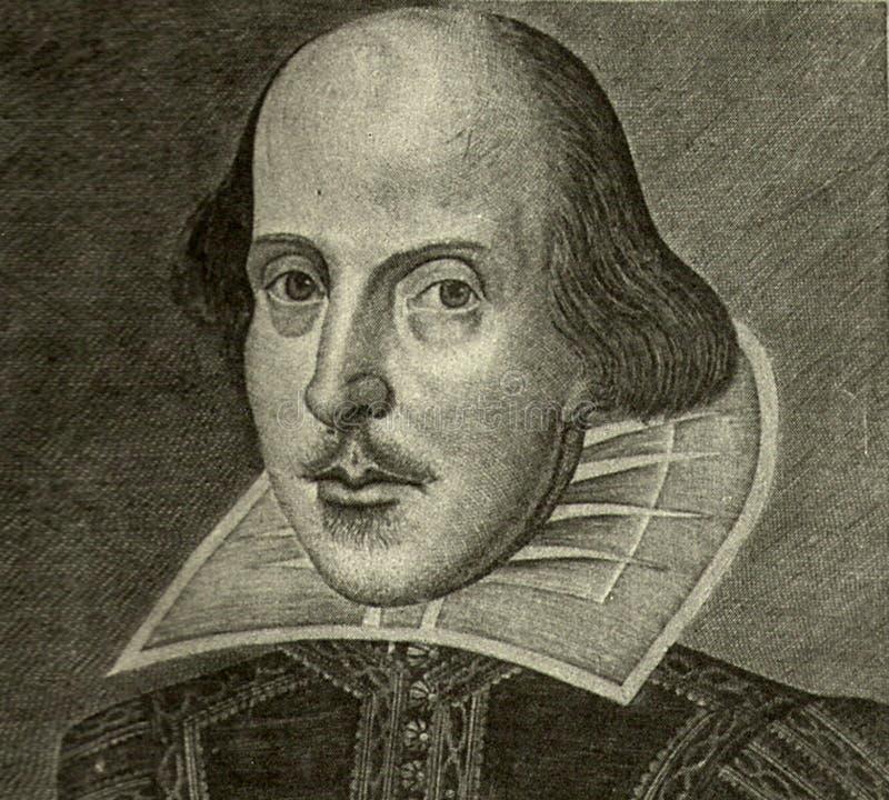 Retrato de William Shakespeare imagen de archivo libre de regalías