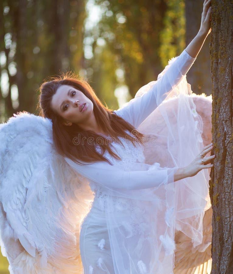 Retrato del ángel inocente imagen de archivo