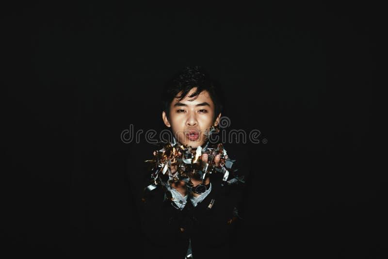 Retrato del asiático elegante Clubber imagenes de archivo