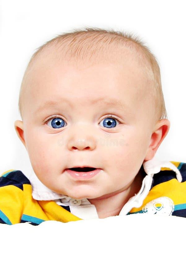 Retrato del bebé sonriente imagenes de archivo