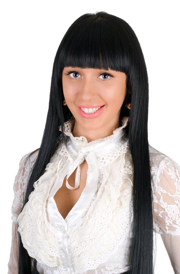 Retrato del brunette encantador imagenes de archivo