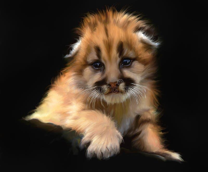 Retrato del cachorro del leopardo imagenes de archivo