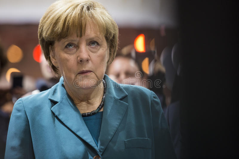 Retrato del canciller de Angela Merkel de Alemania fotos de archivo