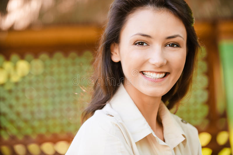 Retrato del cierre de la muchacha para arriba foto de archivo libre de regalías