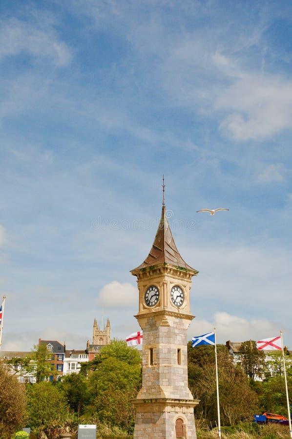 Retrato del clocktower de Exmouth foto de archivo libre de regalías