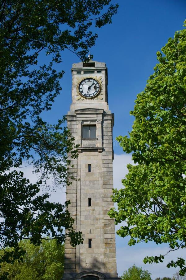 Retrato del clocktower de Stanley Park imágenes de archivo libres de regalías