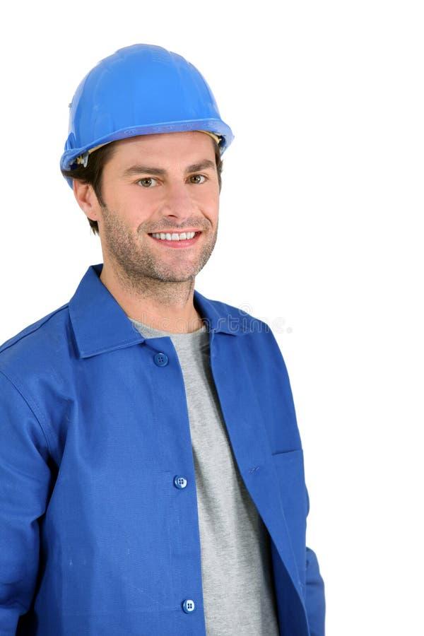 Retrato del constructor. imágenes de archivo libres de regalías