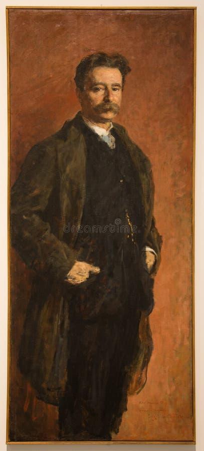 Retrato del ` del ` 1895 de Ugo Zanini por el ` Oca Bianca de Angelo Dall foto de archivo libre de regalías