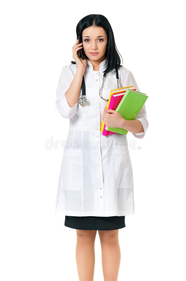 Retrato del doctor de sexo femenino fotos de archivo