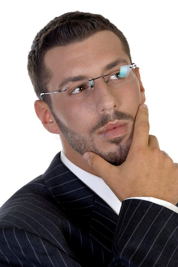 Retrato del ejecutivo de pensamiento fotografía de archivo libre de regalías