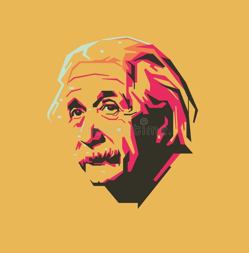 Retrato del ejemplo del vector de Albert Einstein ilustración del vector