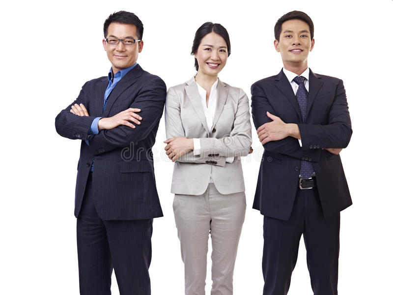 Retrato del equipo asiático del negocio foto de archivo libre de regalías