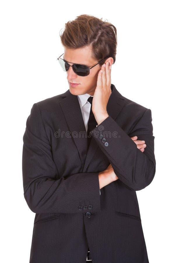 Retrato del espía de sexo masculino fotografía de archivo libre de regalías
