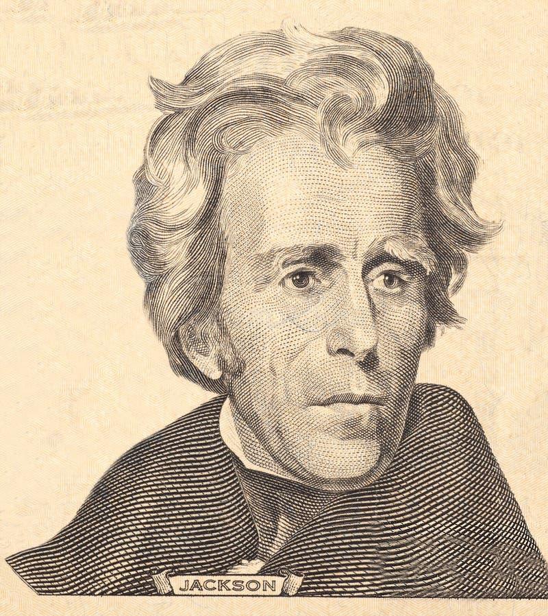 Retrato del estadista, del inventor, y del diplomata Benjamin Franklin de los E S Presidente Andrew Jackson fotografía de archivo libre de regalías