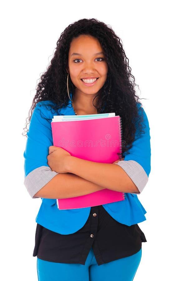 Retrato del estudiante afroamericano sonriente fotos de archivo libres de regalías