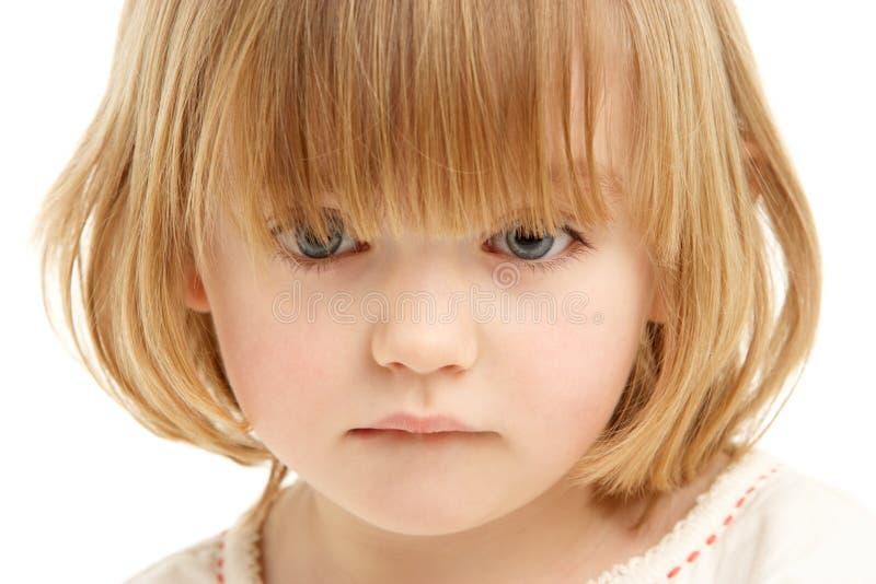 Retrato del estudio de la chica joven imagen de archivo