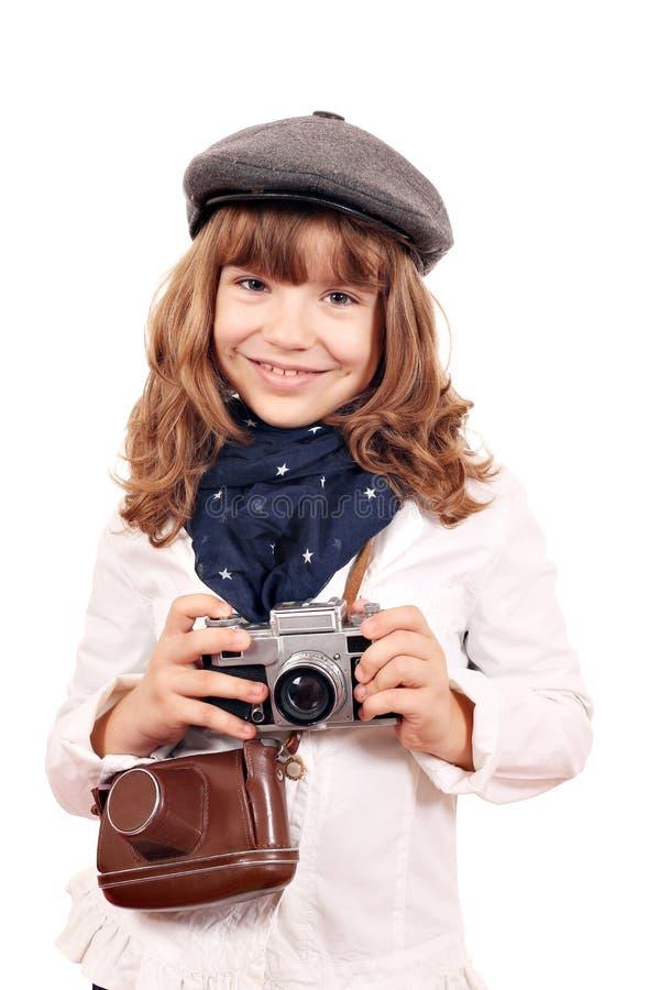 Retrato del fotógrafo de la niña imagenes de archivo