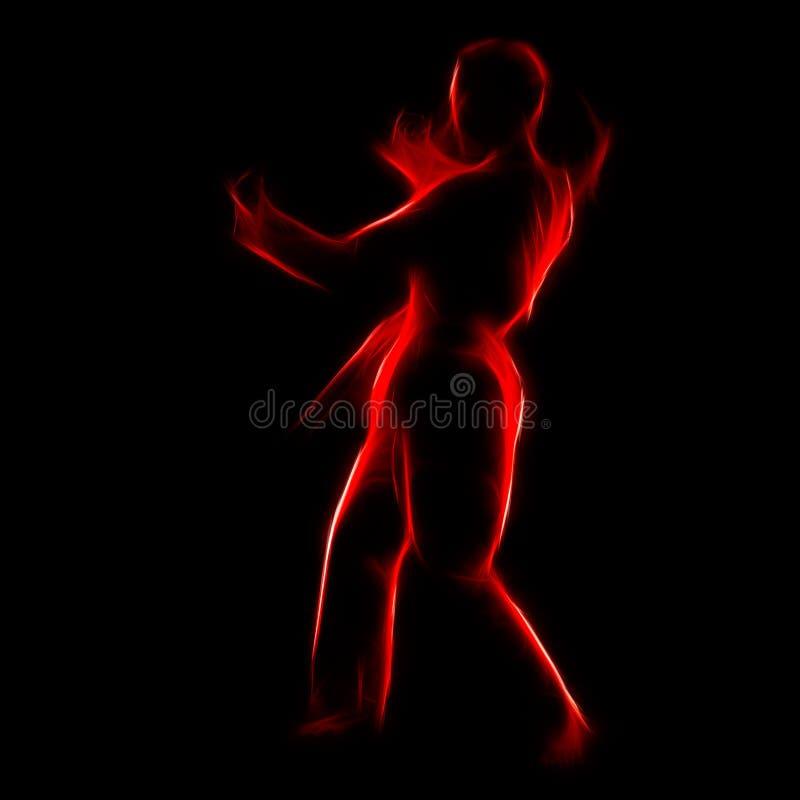 Retrato del fractal de la muchacha del karate fotografía de archivo libre de regalías