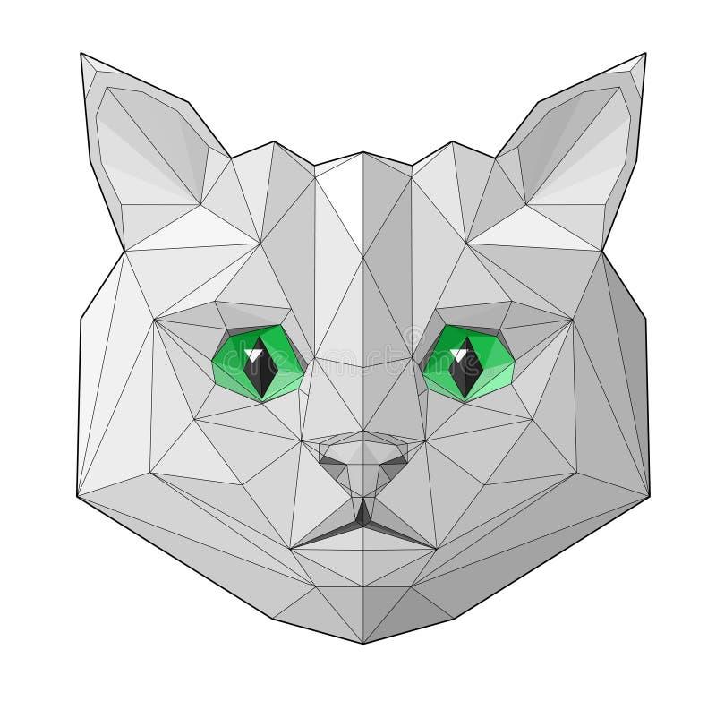 Retrato del gato libre illustration
