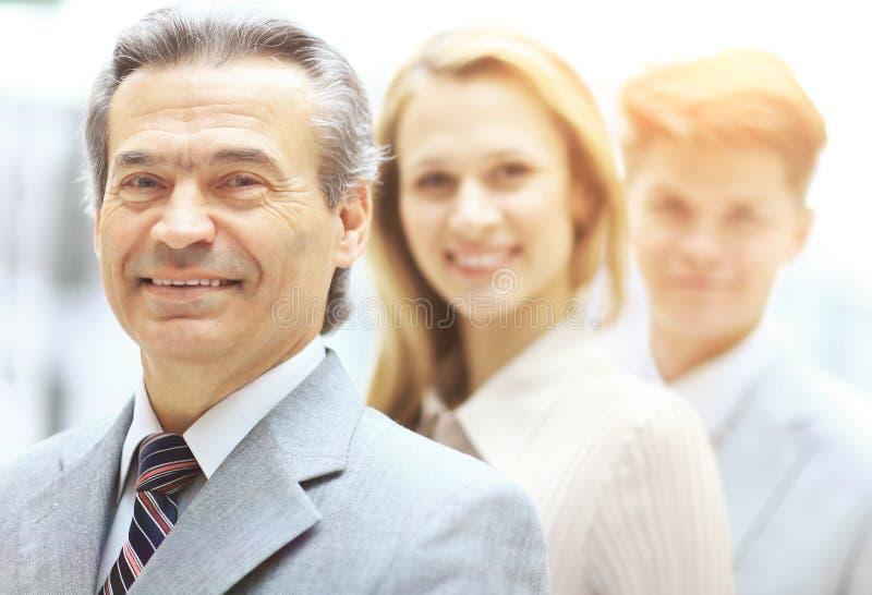 Retrato del grupo de un equipo profesional del negocio imagenes de archivo