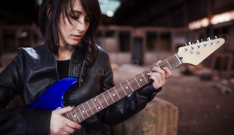 Retrato del guitarrista fotos de archivo