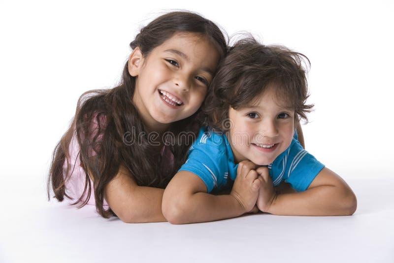 Retrato del hermano y de la hermana imagen de archivo