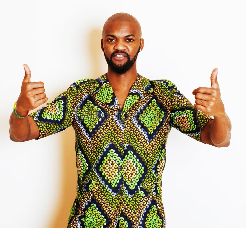 Download Retrato Del Hombre Africano Hermoso Joven Que Lleva Nati Verde Claro Imagen de archivo - Imagen de brillante, aislado: 100531915