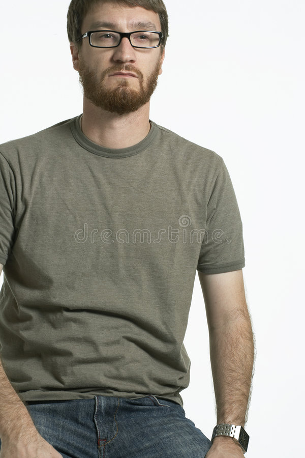Retrato del hombre con la barba 01 imágenes de archivo libres de regalías