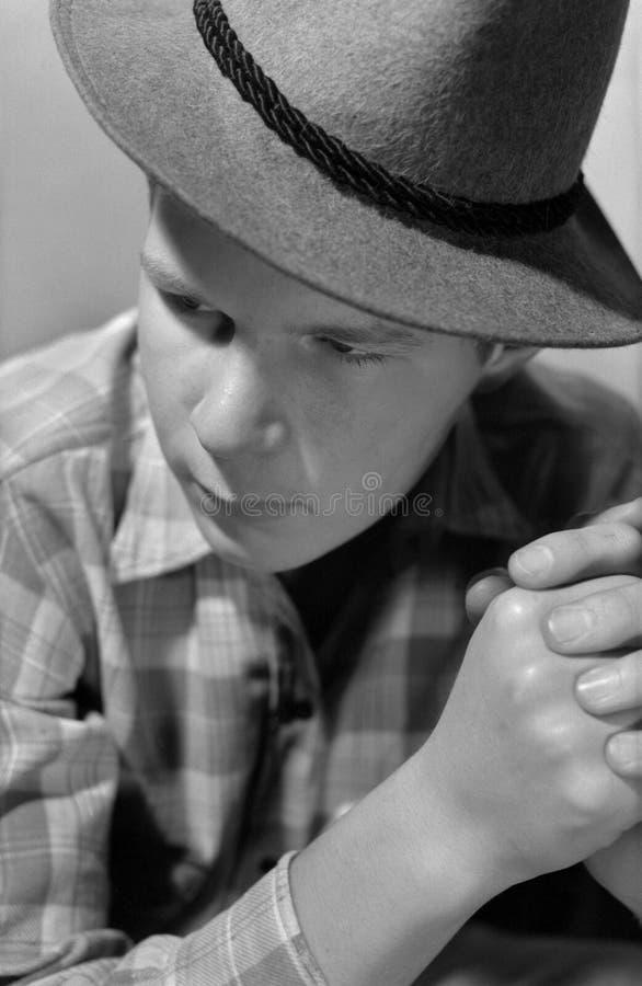 Retrato Del Hombre Con Un Sombrero Fotos de archivo