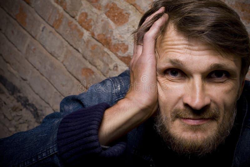 Retrato del hombre con una barba imágenes de archivo libres de regalías
