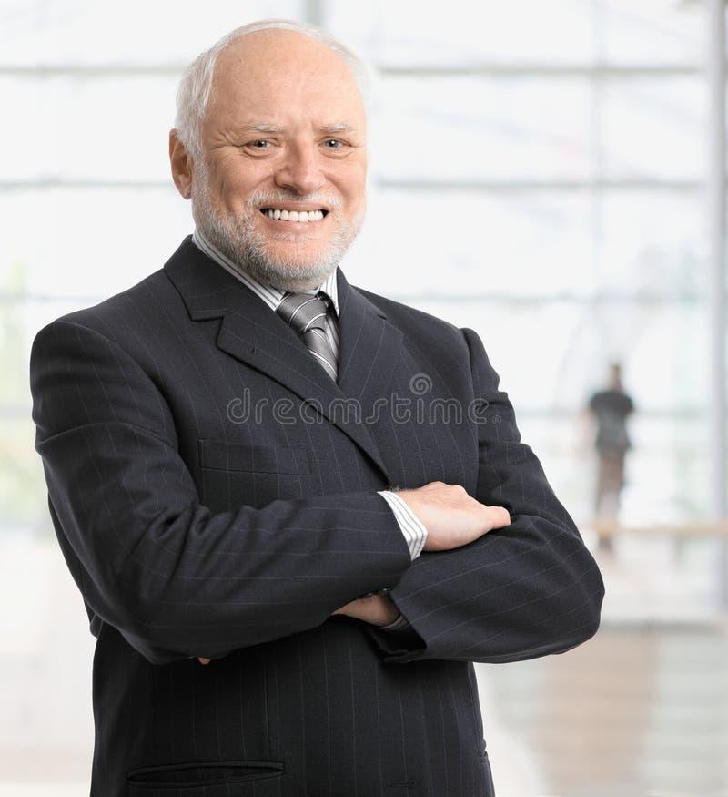 Retrato del hombre de negocios acertado imágenes de archivo libres de regalías