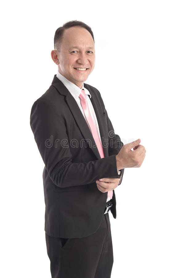Retrato del hombre de negocios asiático fotos de archivo