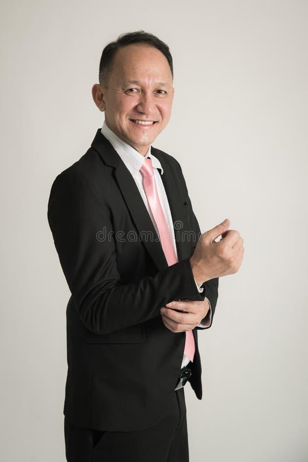 Retrato del hombre de negocios asiático imagen de archivo