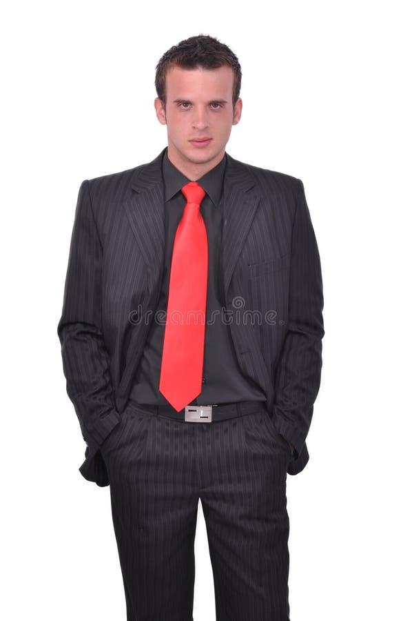 Retrato del hombre de negocios atractivo joven imagenes de archivo