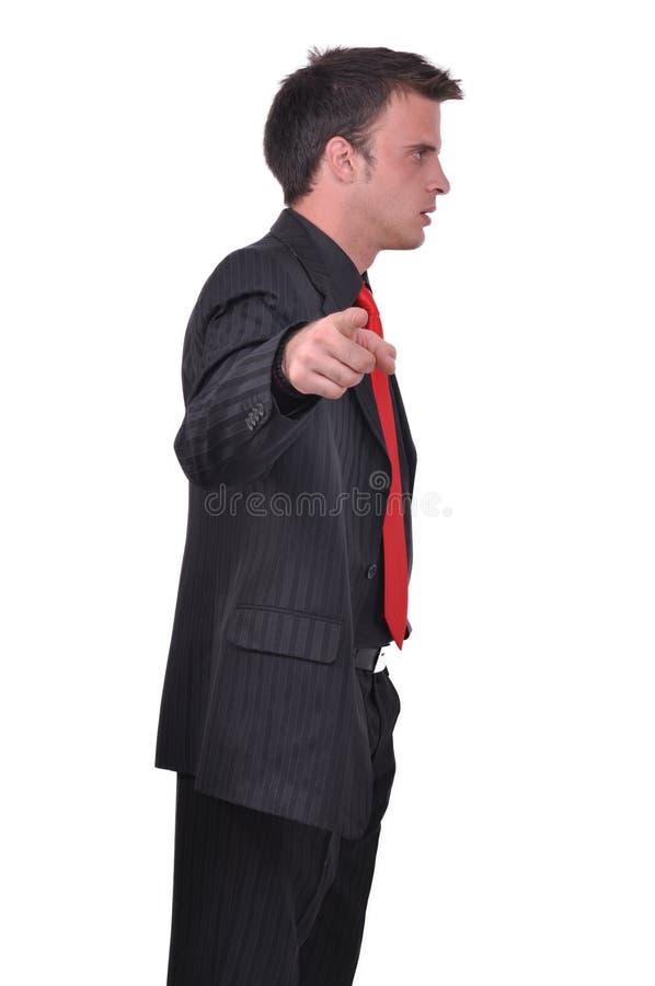 Retrato del hombre de negocios atractivo joven foto de archivo