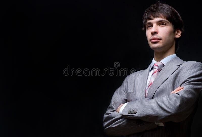 Retrato Del Hombre De Negocios En Un Traje Gris Fotos De Archivo