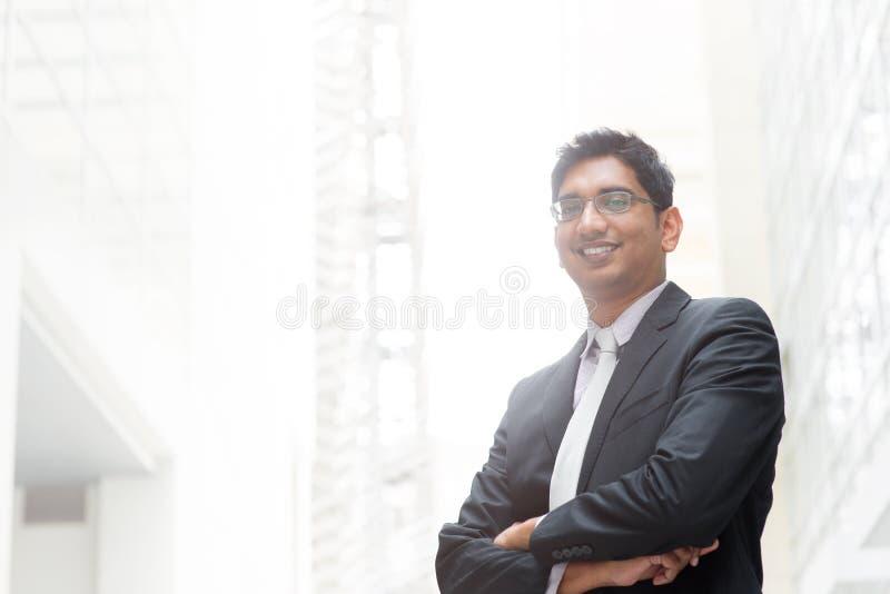 Retrato del hombre de negocios indio foto de archivo