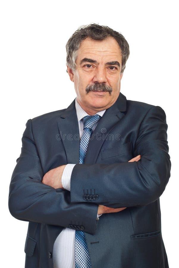Retrato del hombre de negocios maduros imágenes de archivo libres de regalías