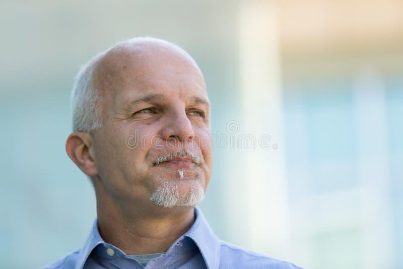 Retrato del hombre de negocios mayor confidente imagen de archivo libre de regalías