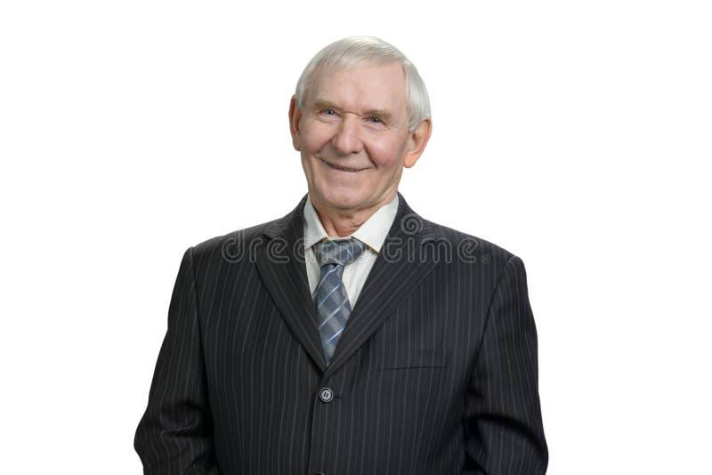 Retrato del hombre de negocios mayor sonriente imagen de archivo